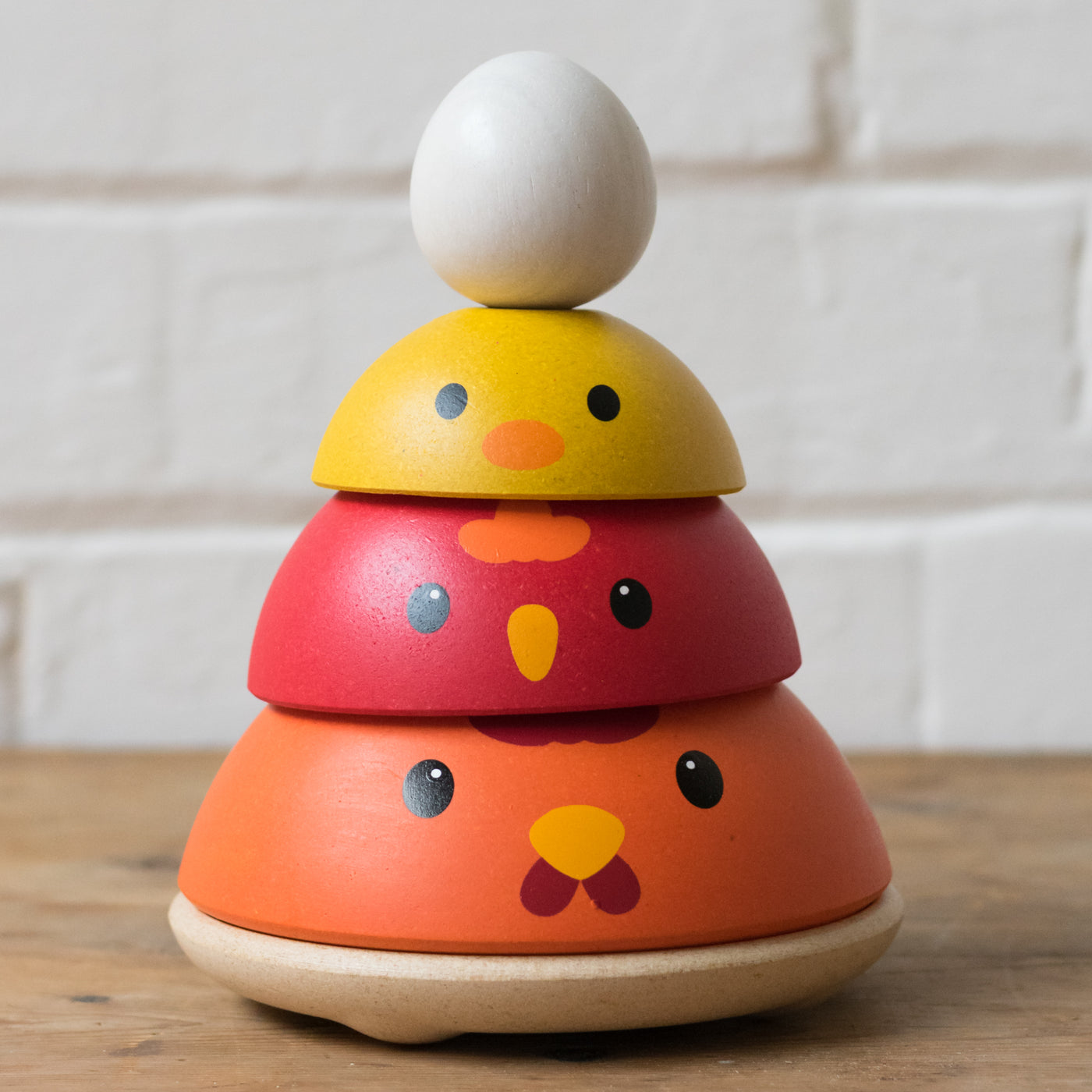 Chicken nesting stacking toy