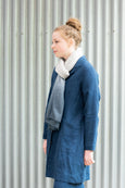 Dip dye merino scarf - denim blue/grey