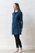 French Coat - Indigo linen