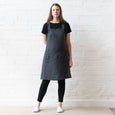 Apron dress - Grey linen