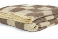 Brown and ivory checkerboard Rhodope Blanket