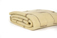 Ivory with grey rectangles Rhodope Blanket