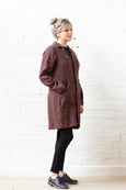 French Coat - Oxblood linen