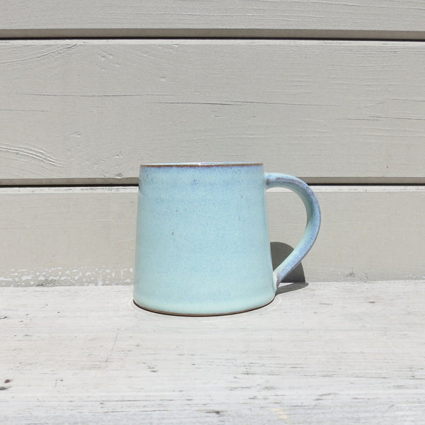 Fair Trade Handmade Glazed Stoneware Conical Mug in Mint