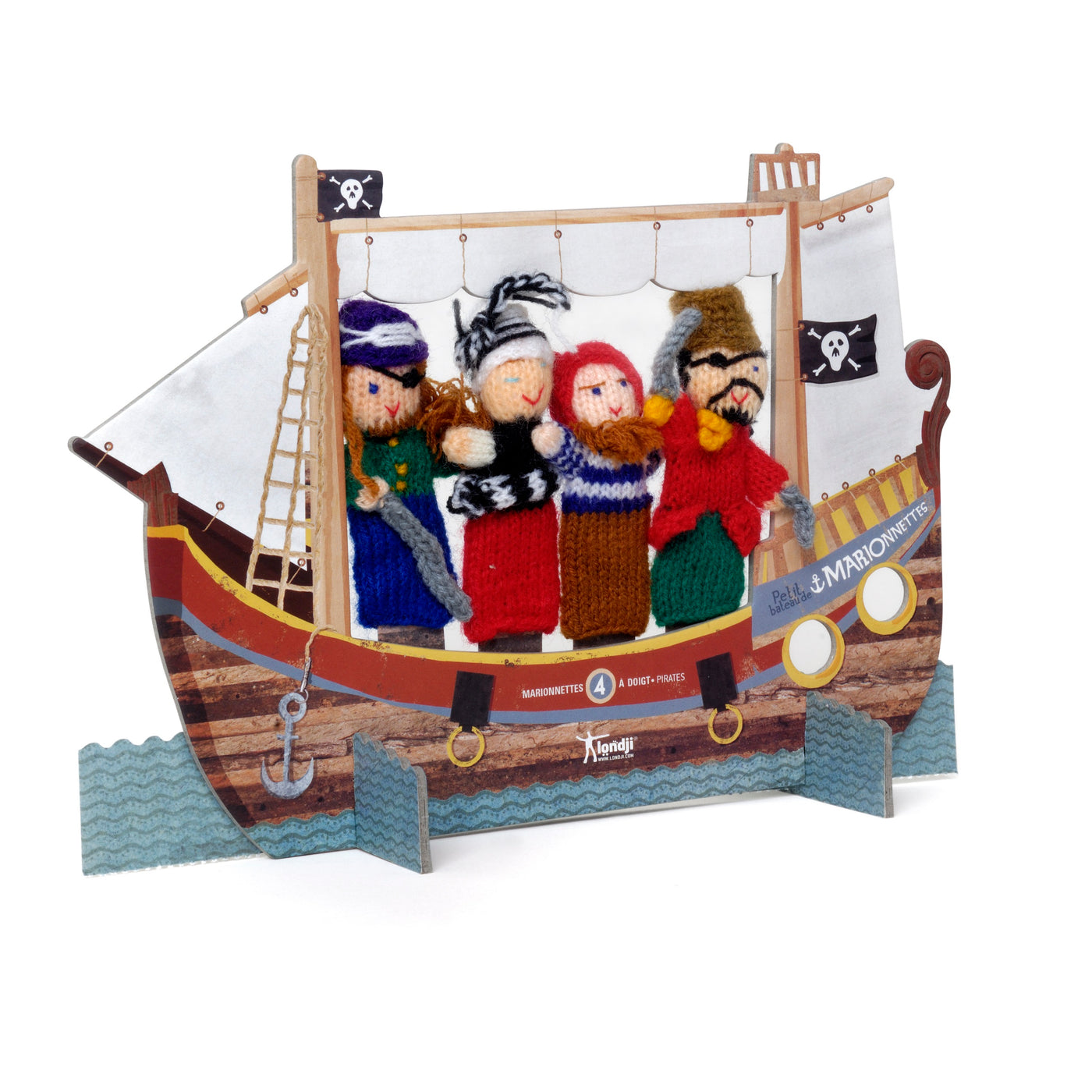 Pirate wool finger puppets