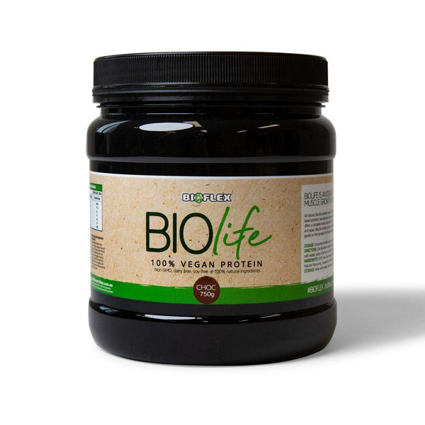 Vegan Protein Powder Supplement - 750g Chocolate Bioflex Biolife Plant Based