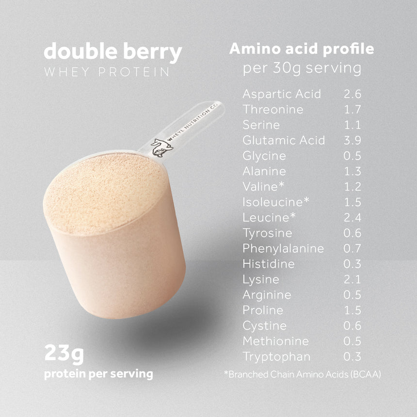 JUST Double Berry whey protein