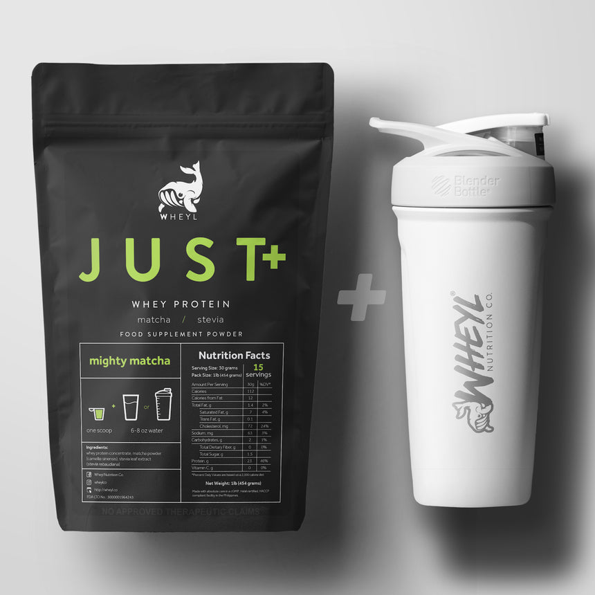 JUST whey protein + SUB Insulated BlenderBottle® bundle