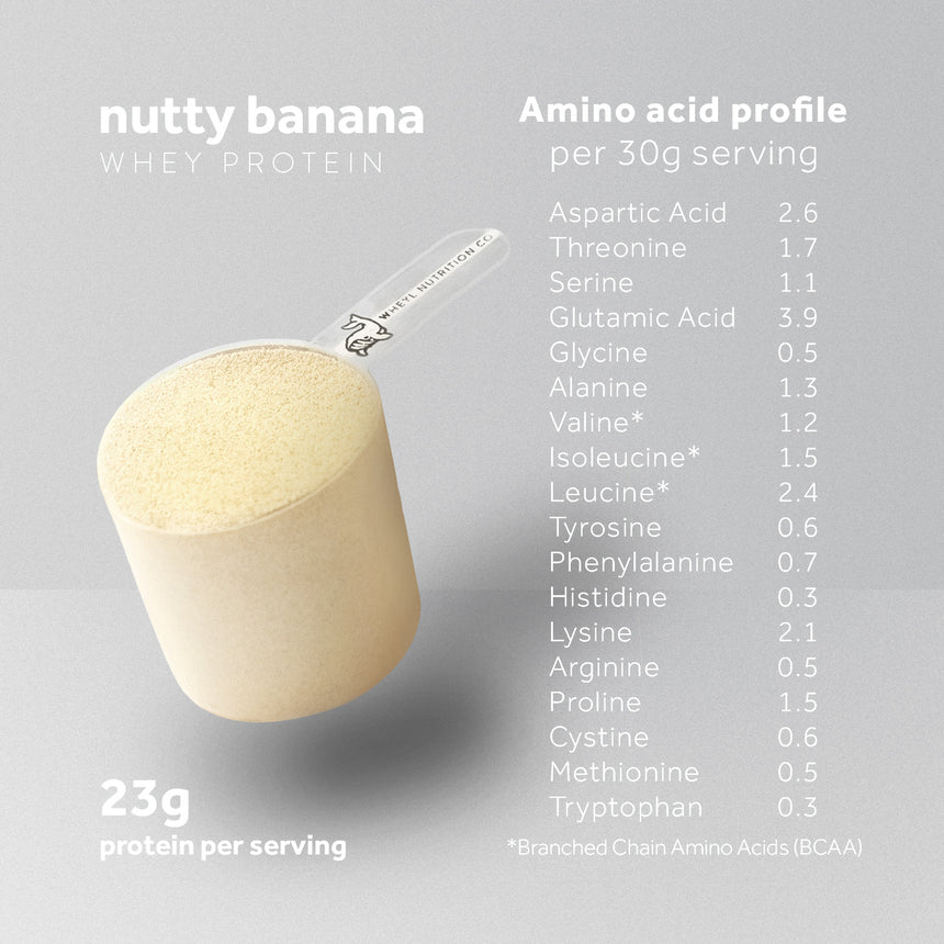JUST Nutty Banana whey protein