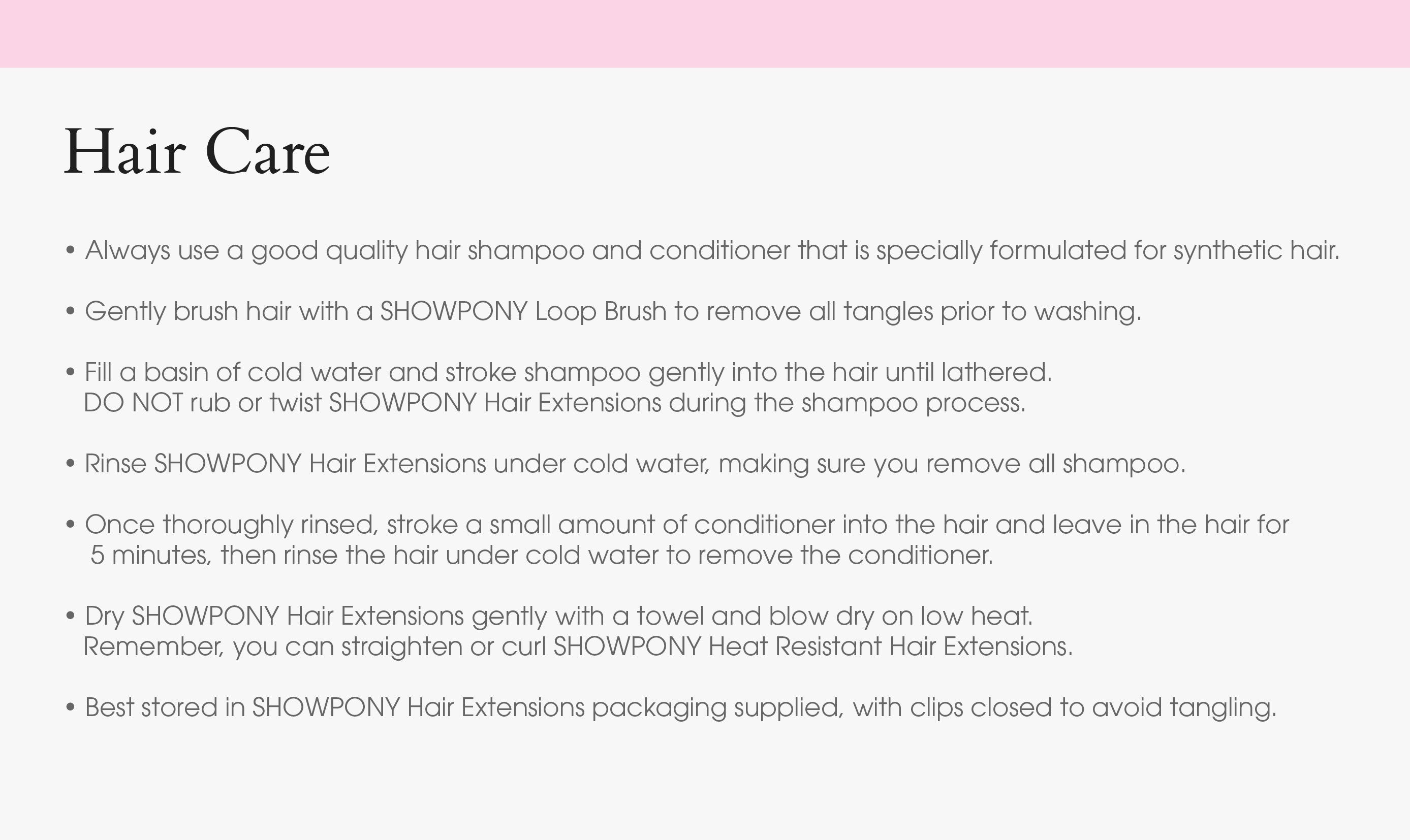 Hair Extension Shampoo And Conditioner Showpony Professional
