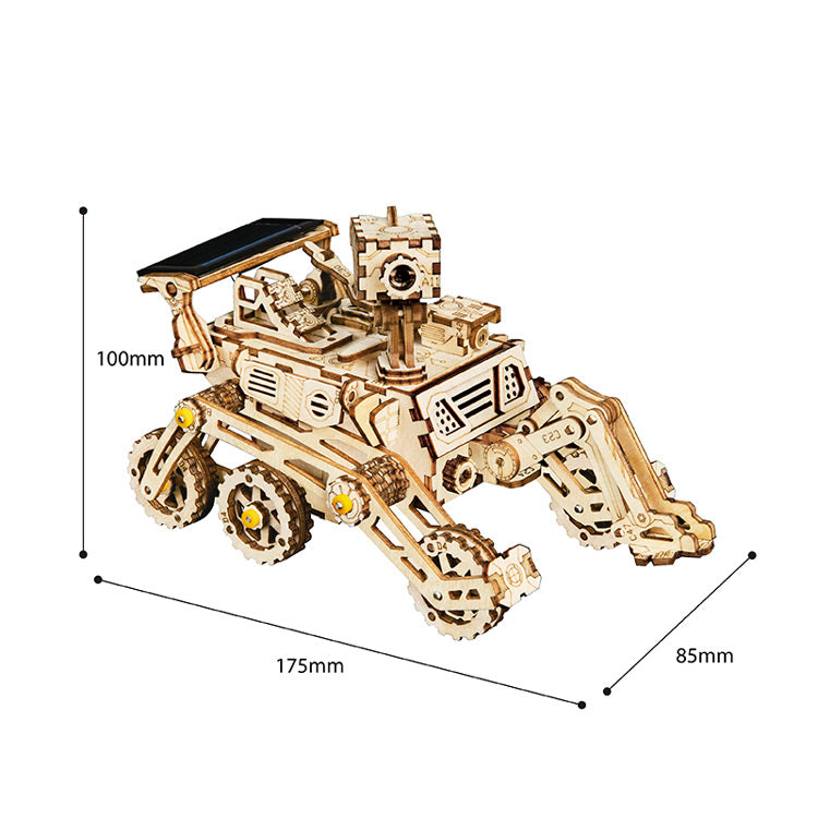 Solar Wooden Rover with Arm