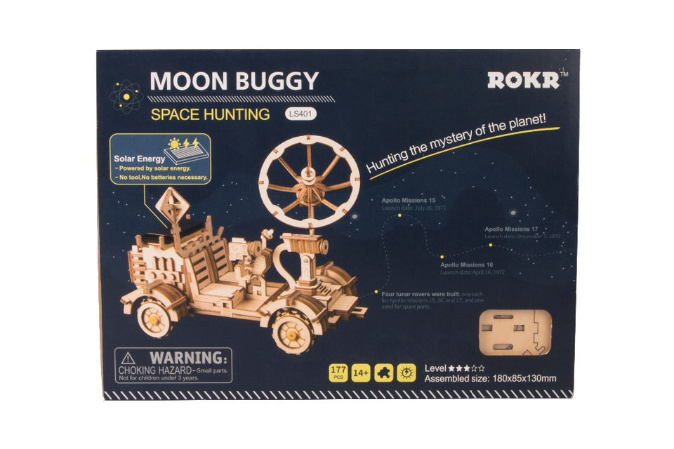 Solar Wooden Moon Rover Apollo 15