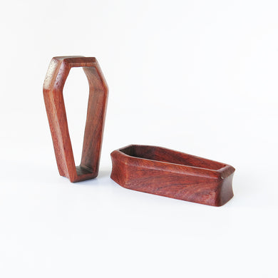 Red Wood Double Flared 3D Coffin Tunnels