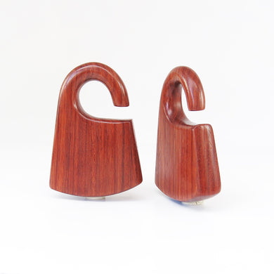 Red Wood Hmong Ear Weights