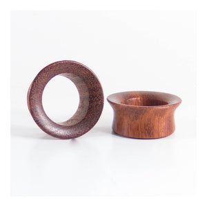 Red Wood Single Flared Round Tunnels