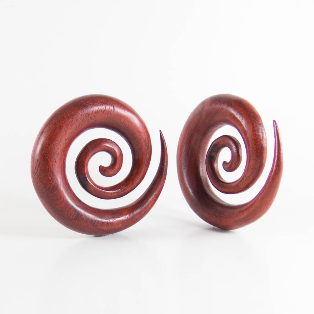 Red Wood Large Ear Spirals