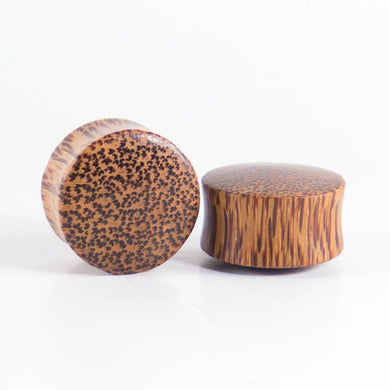 Coconut Palm Wood Double Flared Ear Plugs
