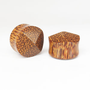 Coconut Palm Double Flared Pyramid Plugs