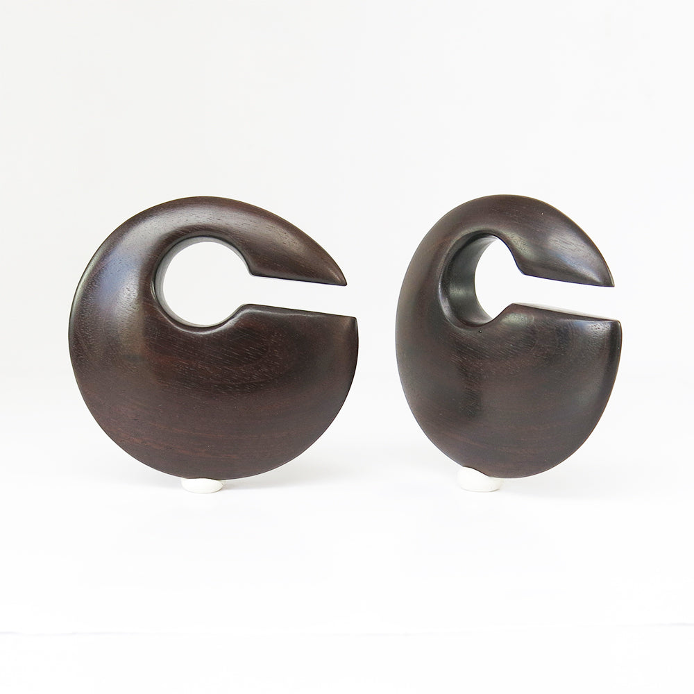 Black Wood Discus Ear Weights