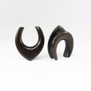 Black Wood Teardrop Saddle Spreaders