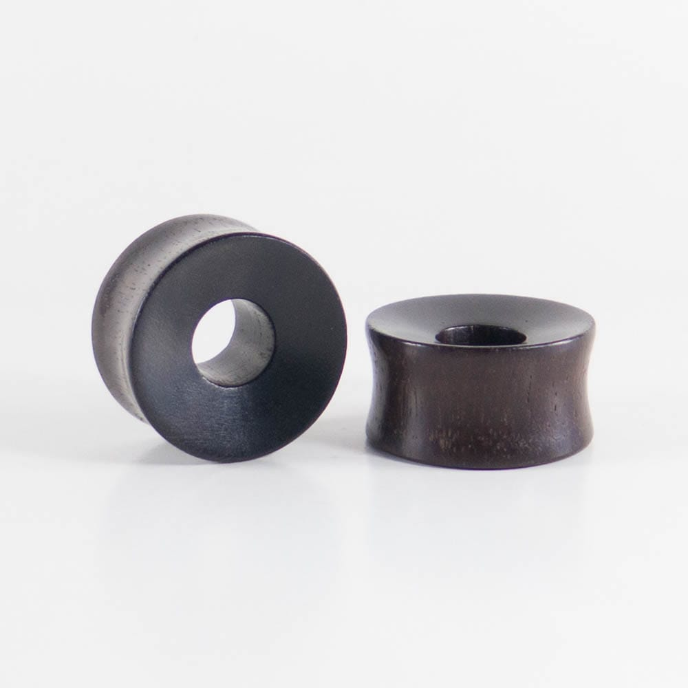Black Wood Double Flared, Thick, Tunnels