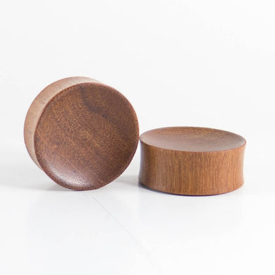 Bronze Wood Double Flared Concave Plugs