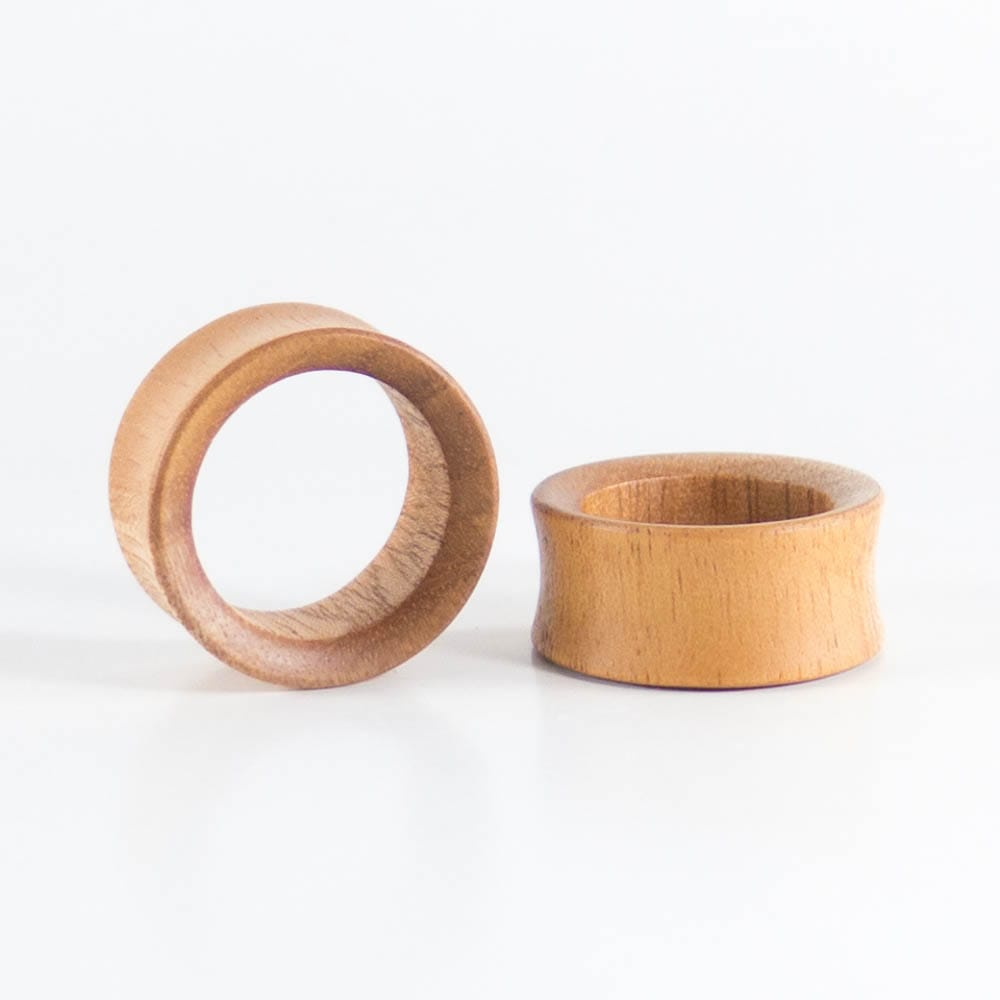 Bronze Wood Double Flare Concave Tunnels