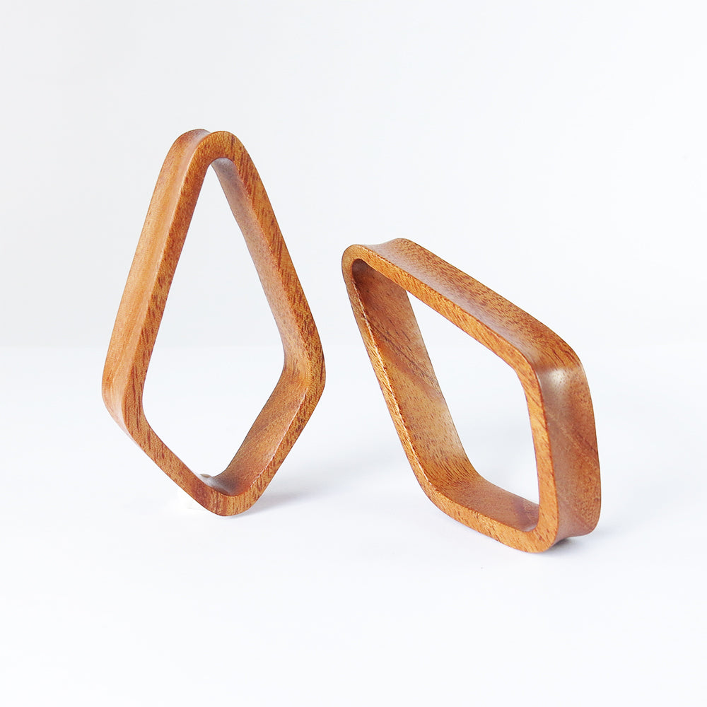 Bronze Wood Double Flared Crystal Tunnels