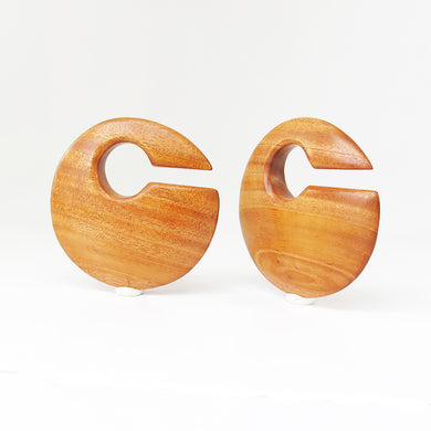 Bronze Wood Discus Ear Weights