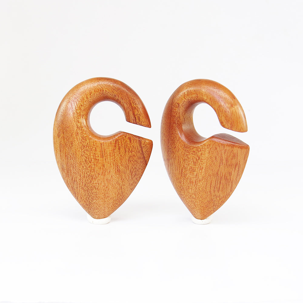 Bronze Wood Pendulum Ear Weights