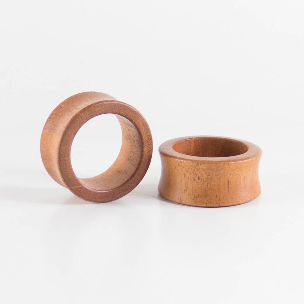 Bronze Wood Double Flared Tunnels