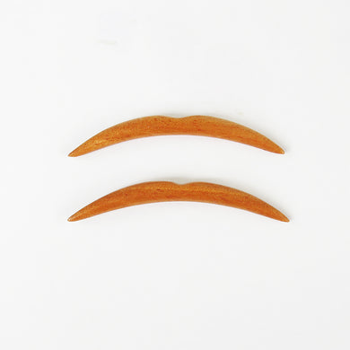Bronze Wood Septum Tusks
