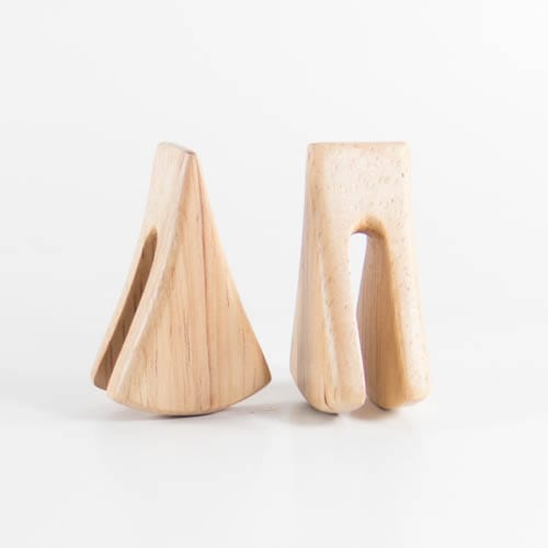 White Wood Lisu Ear Weights