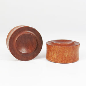 Fijian Mahogany Carved Plugs