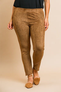 Suede Skinny Stretch Pants