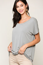 Load image into Gallery viewer, Scoop Neckline Cupro Solid Top
