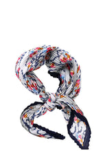 Load image into Gallery viewer, Designer Floral Print Pleated Bandana Scarf