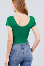 Load image into Gallery viewer, Solid Short Sleeve Scoop Neck Bodysuit