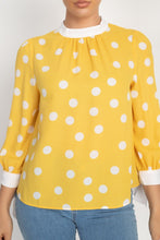 Load image into Gallery viewer, Long Sleeve Polka Dot Shirt