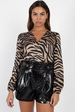 Load image into Gallery viewer, Animal Print Wrap Bodysuit