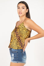 Load image into Gallery viewer, Leopard Print Cami Cropped Top