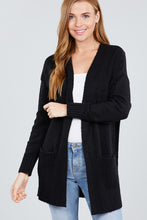 Load image into Gallery viewer, Long Sleeve Open Front W/pocket Sweater Cardigan