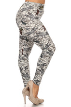 Load image into Gallery viewer, Plus Size Dragonfly Print, Full Length Leggings In A Fitted Style With A Banded High Waist.