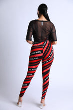 Load image into Gallery viewer, Diagonal Striped Jumpsuit With Mesh Set