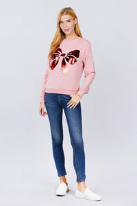 Sequins Embroidered Pullover