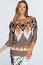 Load image into Gallery viewer, Aztec Pattern With Glitter Accent Sweater