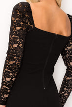 Load image into Gallery viewer, Lace Lover Cutout Long Sleeve Dress