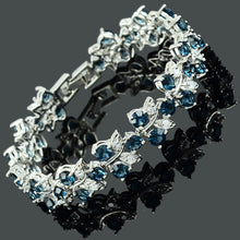 Load image into Gallery viewer, RIZILIA Tennis Bracelet & Round Cut CZ [3 Colours Available] in White Gold Plated, 7""