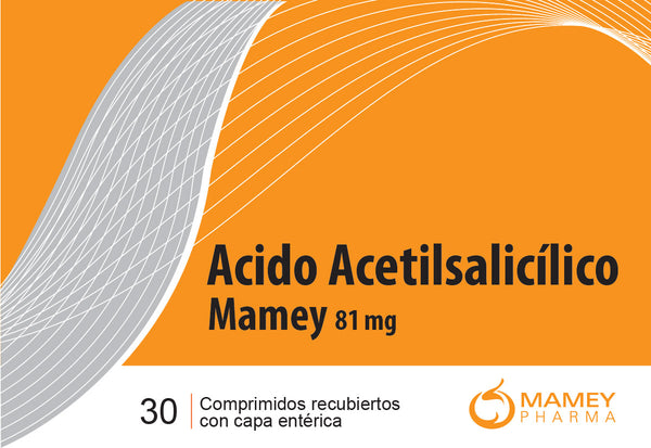 Acido Acetil Salicilico Mamey 81mg 30comp