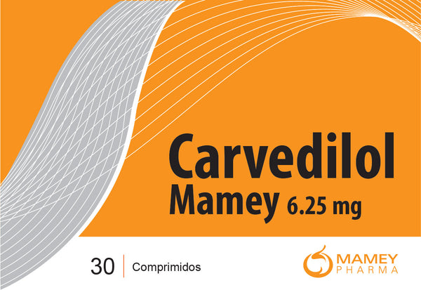 Carvedilol Mamey 6.25mg 30comp